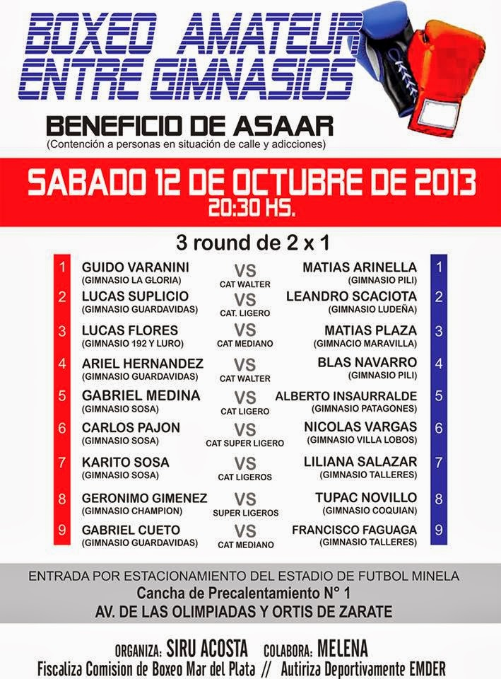 A puro boxeo afiche promocional boxeo amateur entre for Gimnasio 60 entre 8 y 9