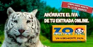 Promoción días sin IVA Zoo Aquarium de Madrid