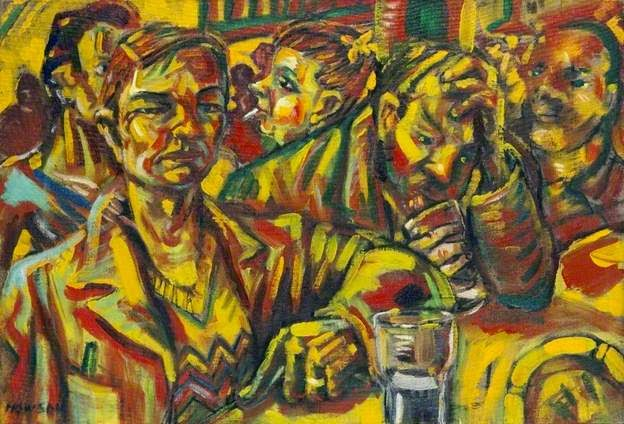 Peter Howson  - City bar,1984.