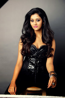 Pooja Jhaveri Latest HD Pics in Black Deep Neck Leather Dress WOW Spicy Pics must See