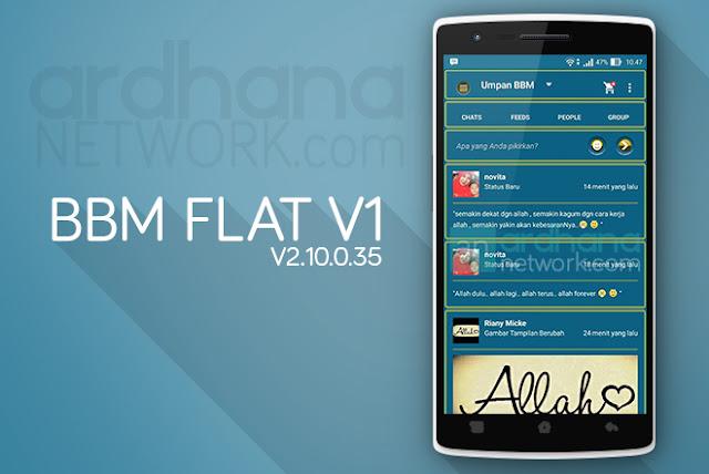 BBM Flat V1 - BBM Android V2.10.0.35