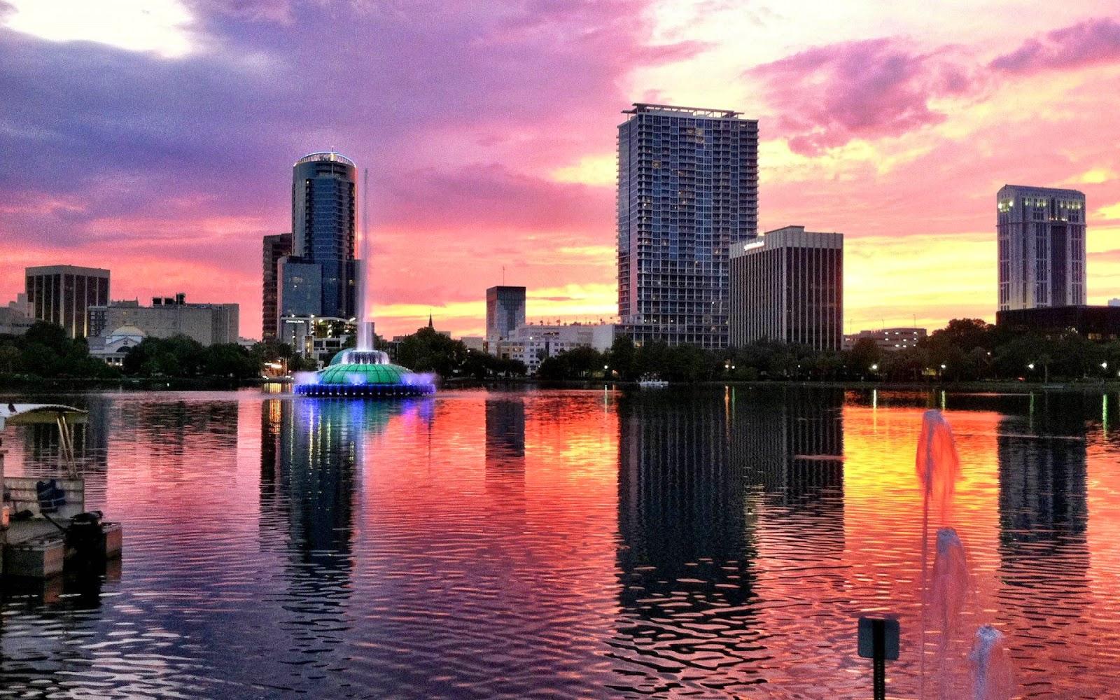 Papel de parede de Downtown Orlando