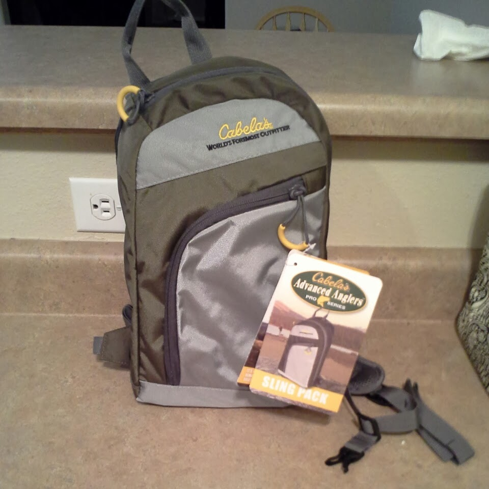Buggin 39 out cabela 39 s sling pack budget style fly for Cabelas fishing backpack