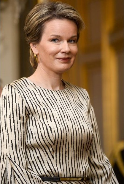 Queen Mathilde of Belgium and King Philippe of Belgium attended the new year reception held for representatives of SHAPE and NATO at the Royal Palace