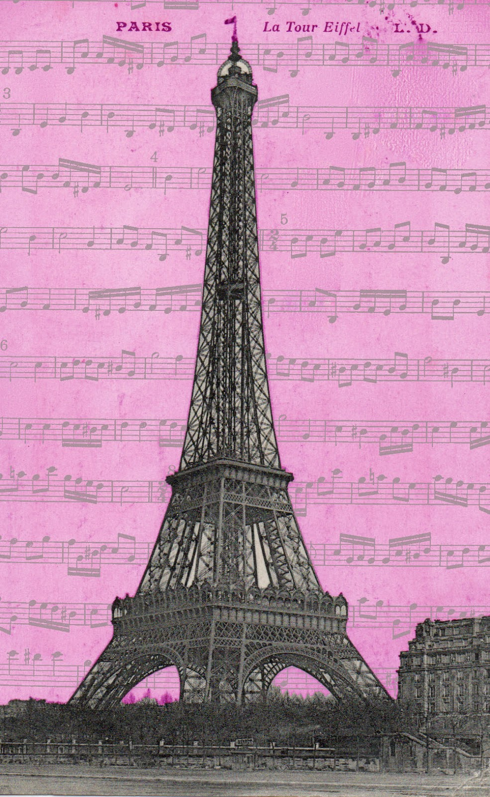 the gallery for gt eiffel tower wallpaper vintage pink