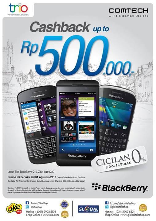 Harga promo blackberry dari OkeShop dan Global Teleshop s/d 31 Agustus 2013