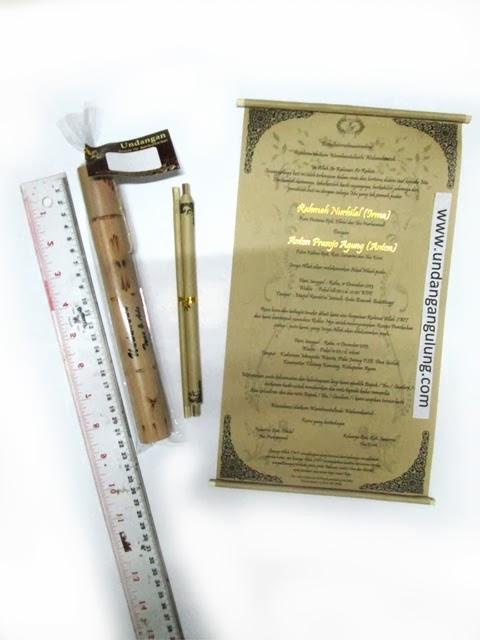 Undangan yang digulung Tabung bambu 21cm