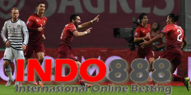 Joao Mautinho merayakan Gol Penentu melawan Denmark - Indo888News