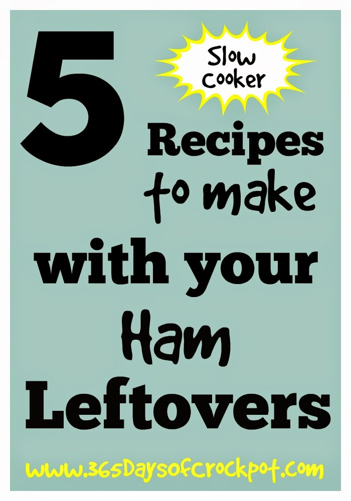 5 {CrockPot} Recipes to Make with Your Ham Leftovers #easter #ham #easydinner