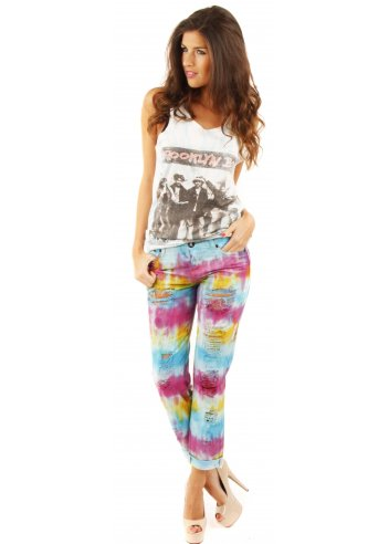 One Teaspoon tie dye baggies jeans