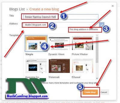 cara membuat alamat blog gratis