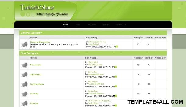 ... Wp Themes   Wordpress Download: Turkish Green Web2.0 Free SMF Theme