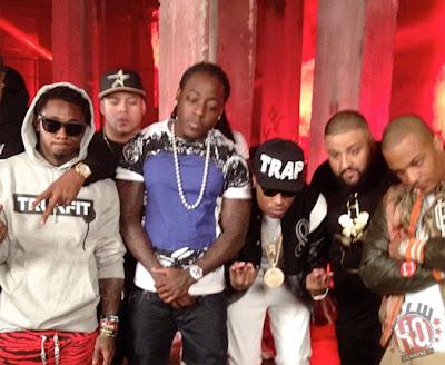 "dj khaled lil wayne future ti ace hood models bottles video shoot Photo Updates: Behind The Scene On Set Of DJ Khaled, Lil Wayne, Future, T.I. and Ace Hood's ""Models and Bottles"" Video Shoot"