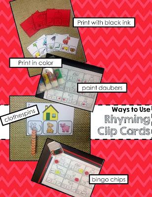 http://www.teacherspayteachers.com/Product/Rhyming-Phonemic-Awareness-Task-Cards-Worksheets-for-Centers-1013372