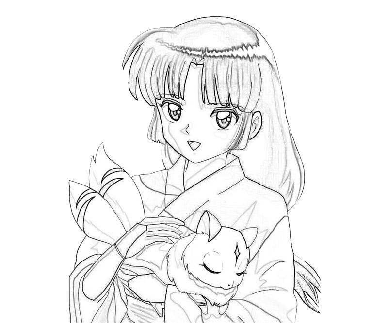 another inuyasha coloring pages - Inuyasha Coloring Pages