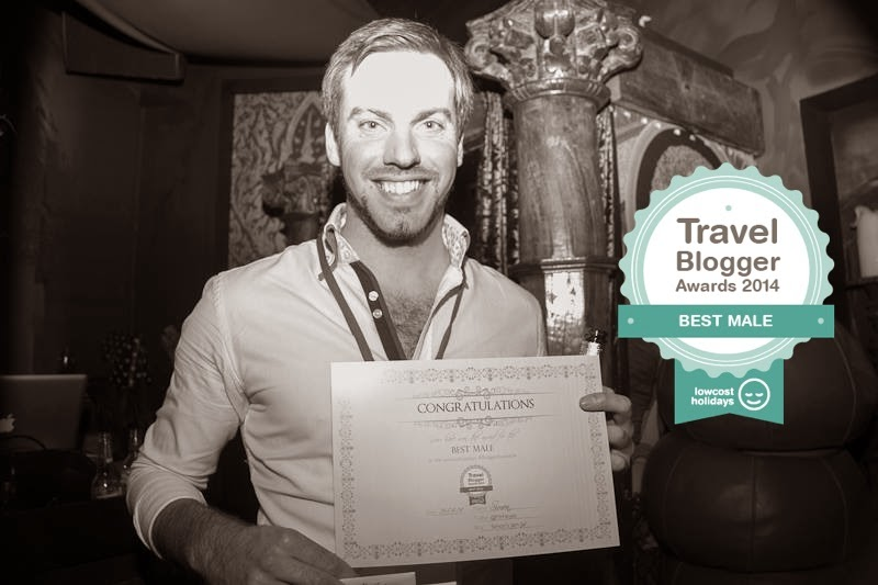 Simon Heyes - Simon's JamJar Wins Best Male - Blogger Awards 2014