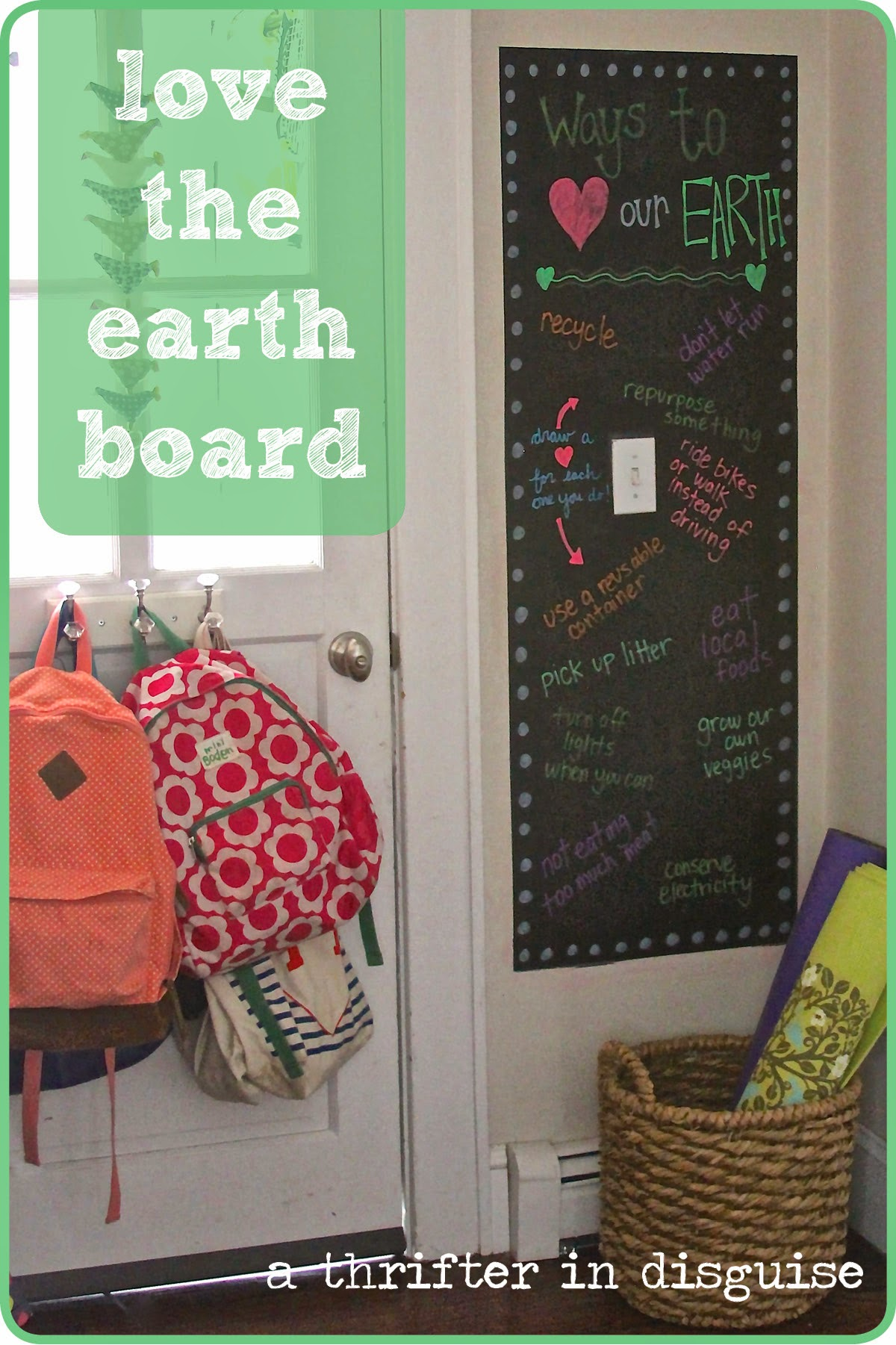 Creating a green checklist via thrifterindisguise.com