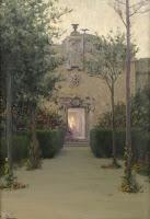 MODEST URGELL Jardín al atardecer c. 1890