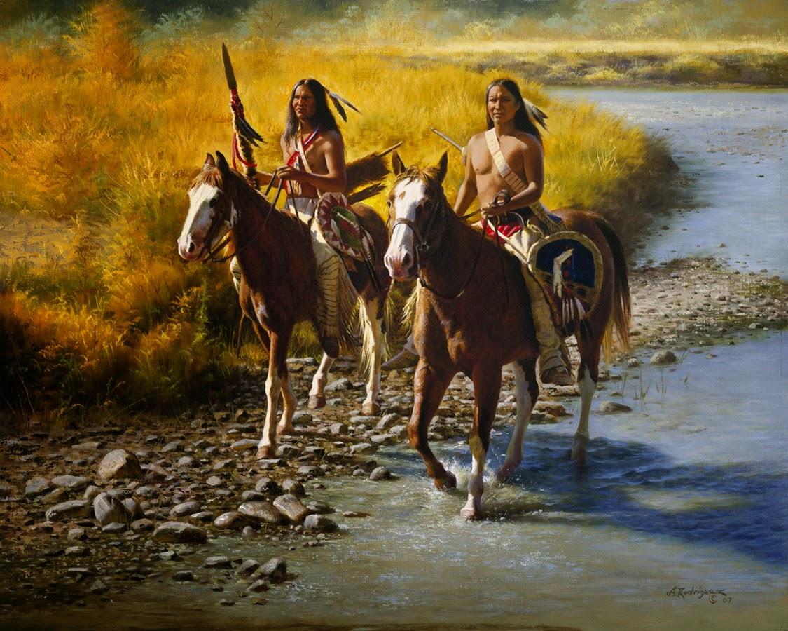 cuadros-con-indigenas-americanos-en-acuarela