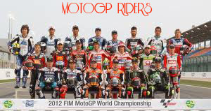 Para Pembalap Moto GP 2012 (Riders)