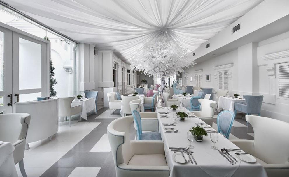 pure white classy wedding venue
