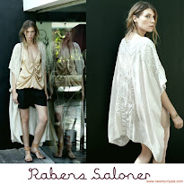 Princess Mary Style Rabens Saloner Kimono and Gianvito Rossi Pumps and Queen Earring