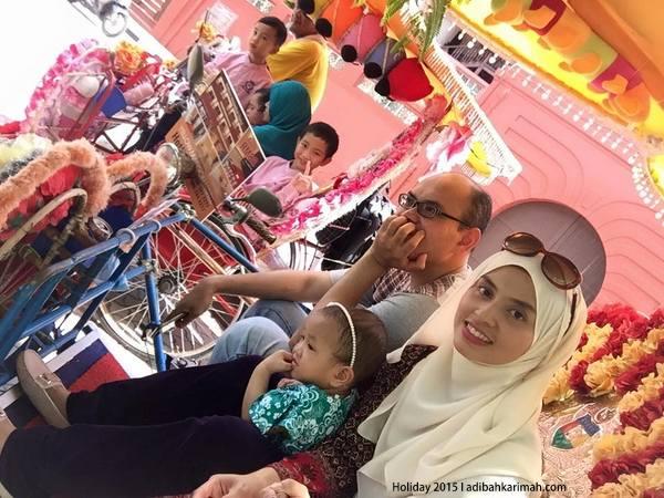 bercuti dgn keluarga ke bandaraya bersejarah melaka nai beca