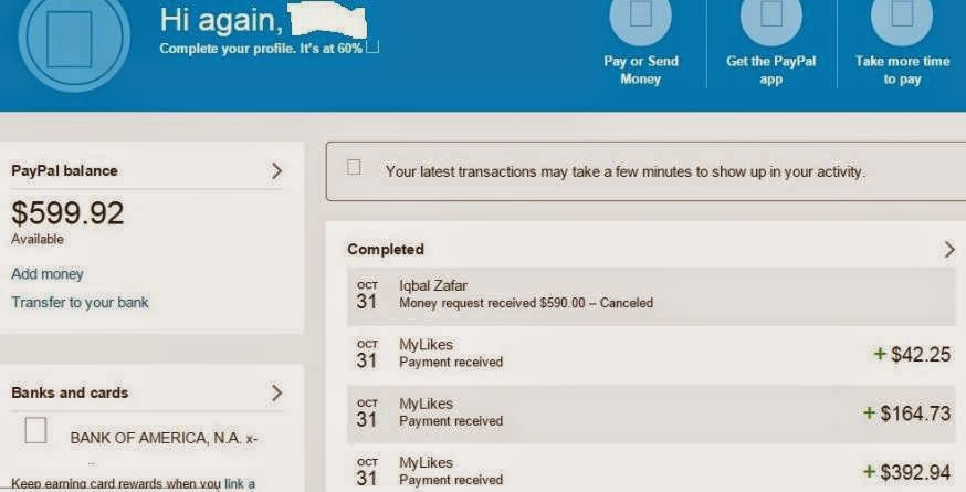 PayPal Transication