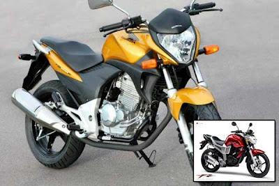 Modifikasi Honda New Megapro Warna kuning dengan lebih gagah