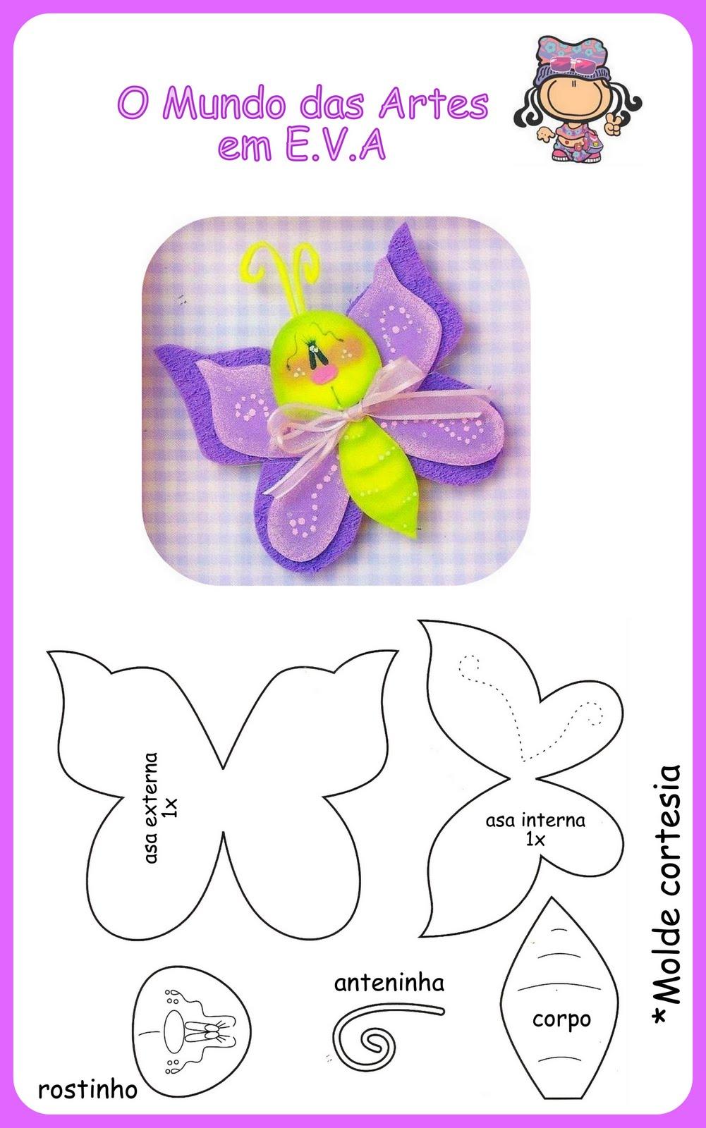 Moldes de e v a borboleta - Mariposas goma eva ...