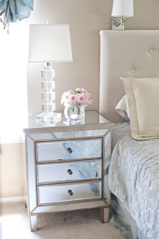 vegas white glass mirrored bedside tables. Inspiration For Both Styles Vegas White Glass Mirrored Bedside Tables L