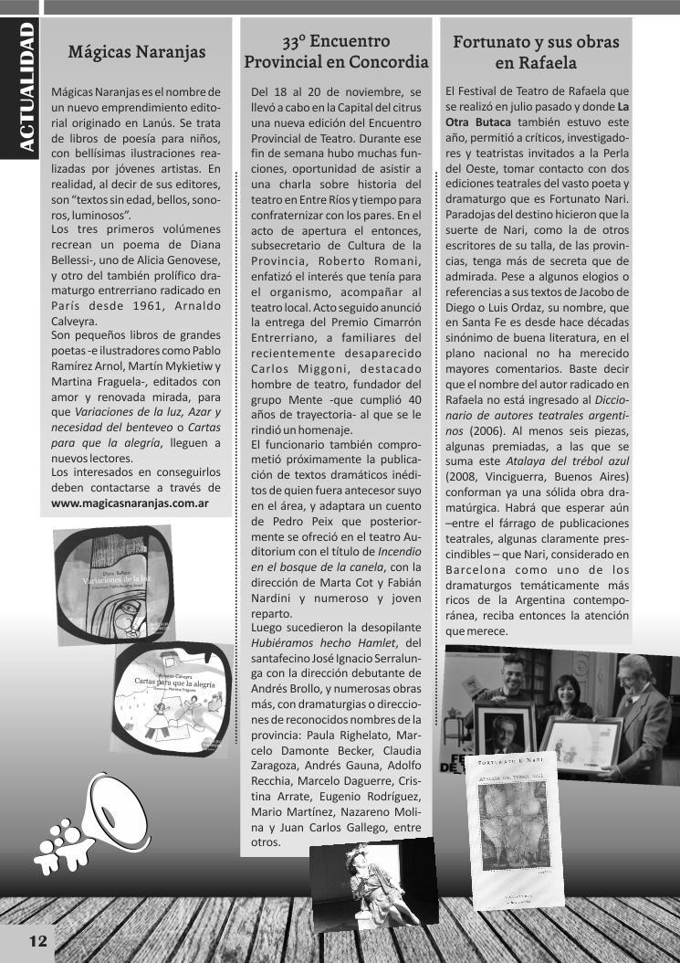Una página de la prestigiosa revista de teatro.
