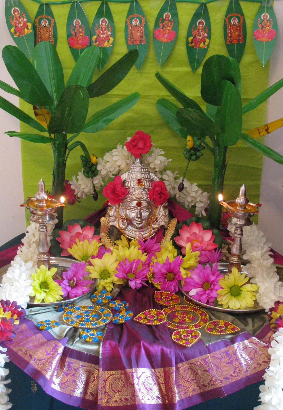 Padma 39 s recipes vara mahalakshmi vratham for Decoration 4