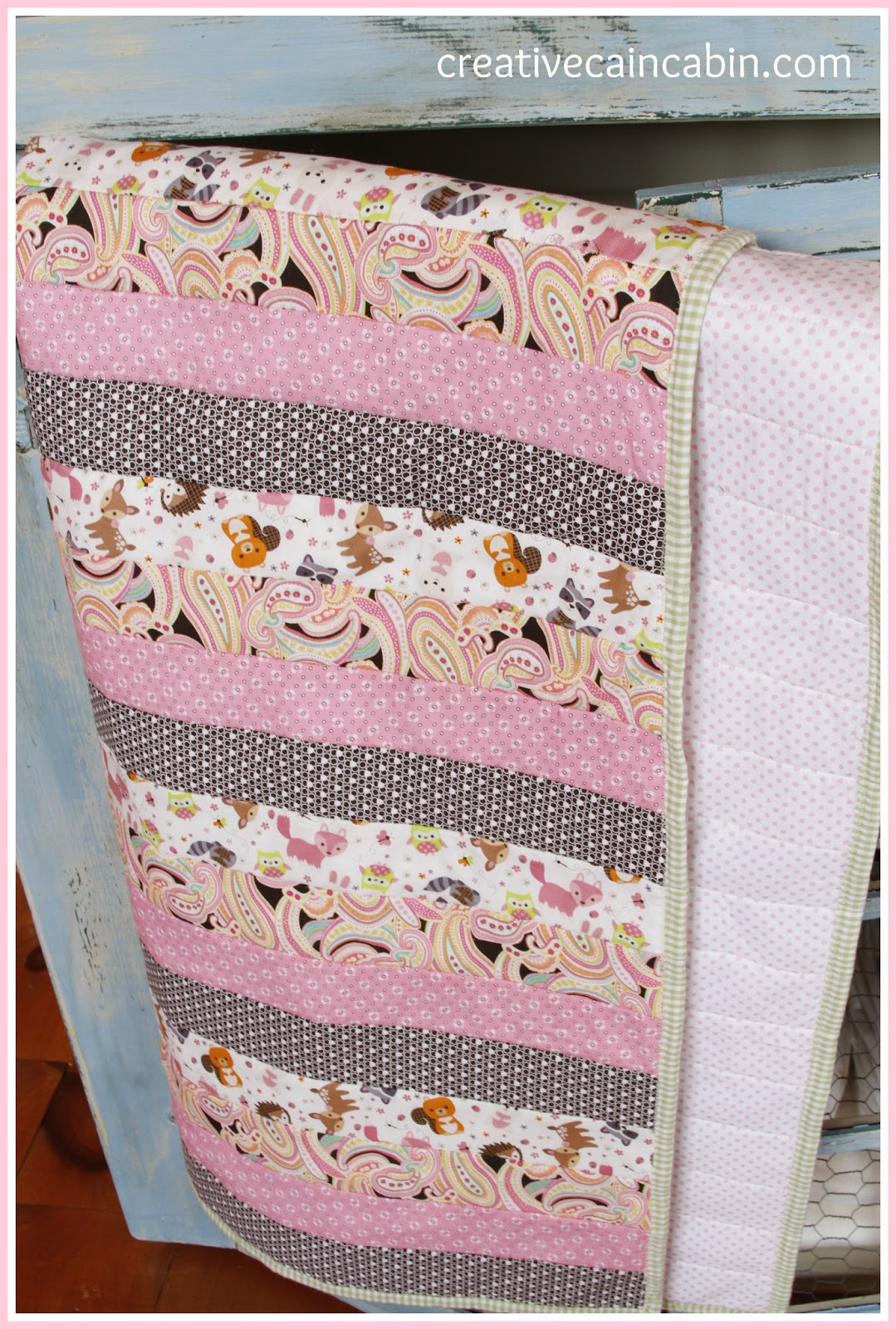 Baby Quilt using Quilt as You Go Method - CREATIVE CAIN CABIN : quilt as you go baby quilt - Adamdwight.com