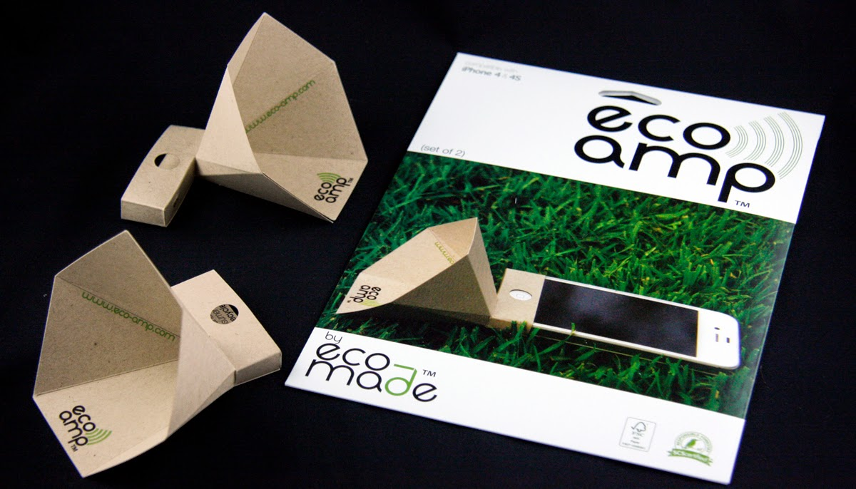 Amplificador de Papel Reciclado para Iphone, Ipod y Ipad