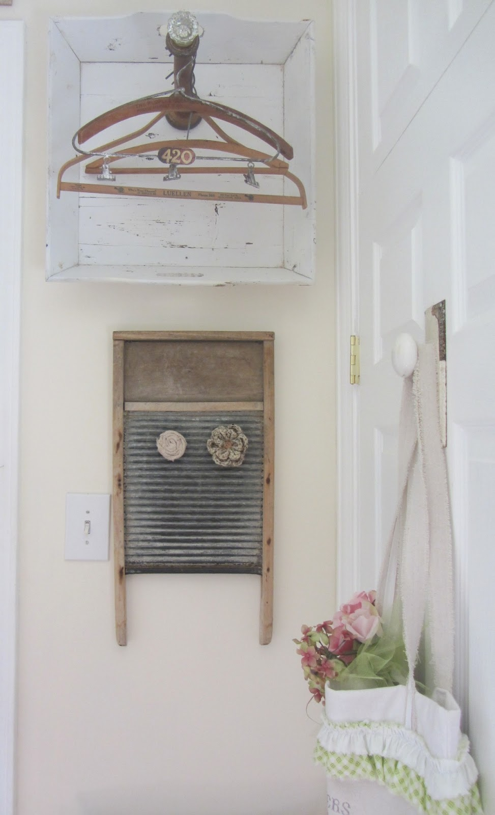 Vintage Laundry Decor Junk Chic Cottage Laundry Room