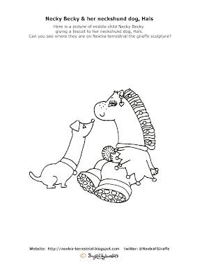 Necky Becky & Hals - Ingrid Sylvestre - Giraffe Colouring PIctures