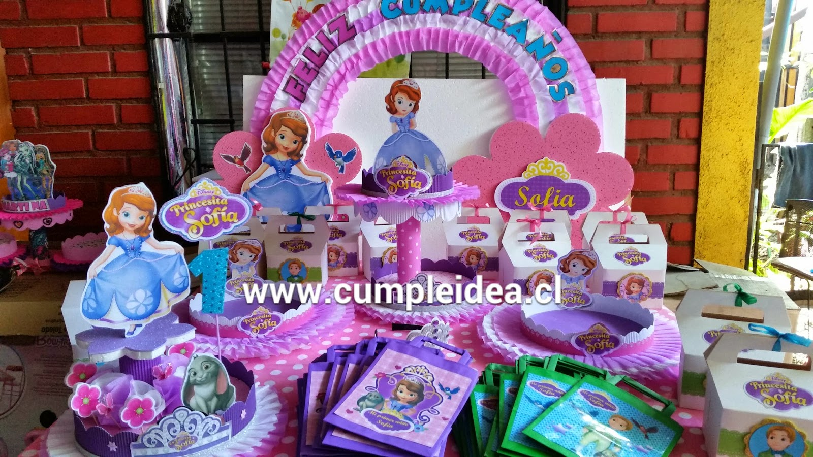 Decoraciones infantiles princesita sofia for Decoraciones infantiles