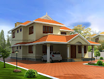 Evens Construction Pvt Beautiful House In Kerala