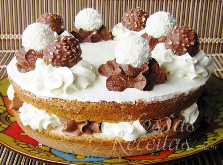 Receita de Torta de coco preparada com Nutella