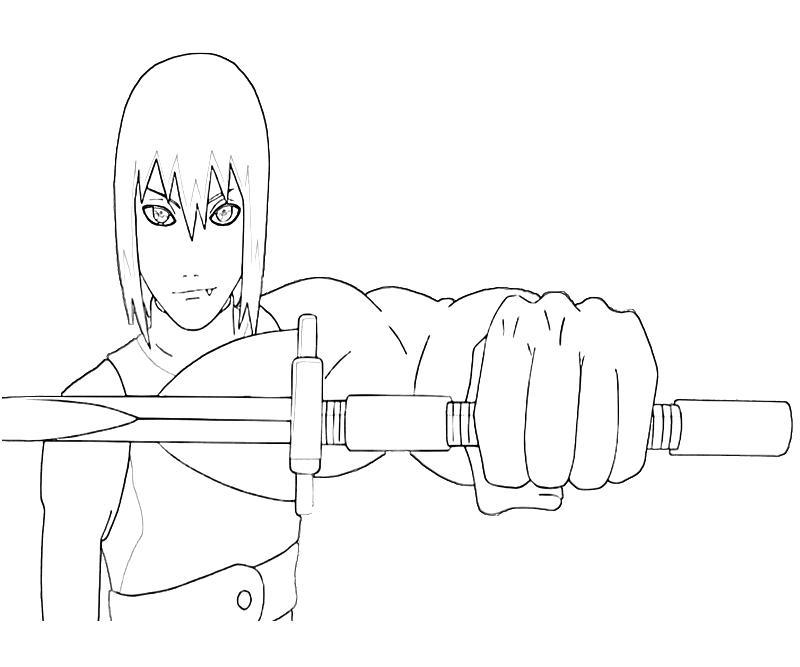 Printable Naruto Suigetsu Sword Coloring Pages title=