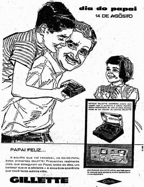 Propaganda da Gillette para o Dia dos Pais em 1960.