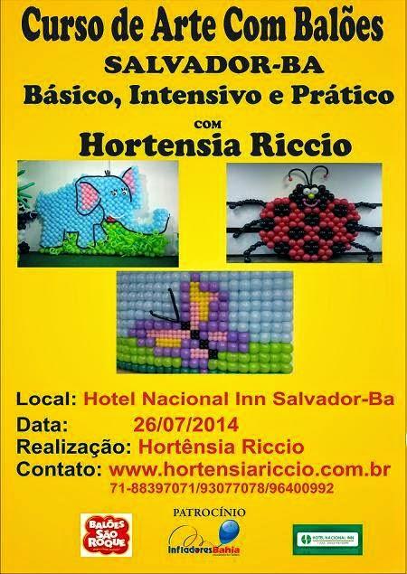 Curso Básico, Intensivo e Prático de Arte com Balões
