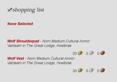 GW2 Outfitter Shopping List Armor Weapon Preview