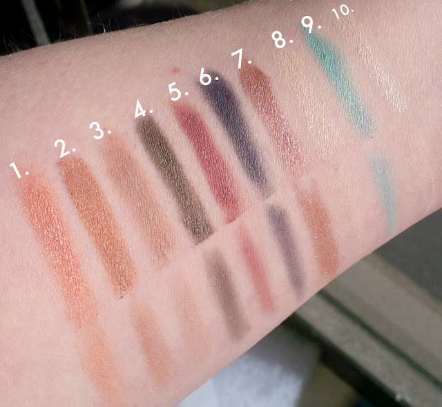 Pacifica The Power of Love Eyeshadow Palette swatches