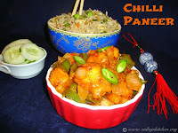 images for Chilli Paneer Dry Recipe / Chilli Paneer Recipe - Indo-Chinese Food