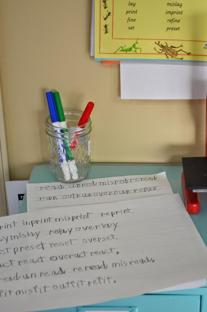 Montessori, prefix chart