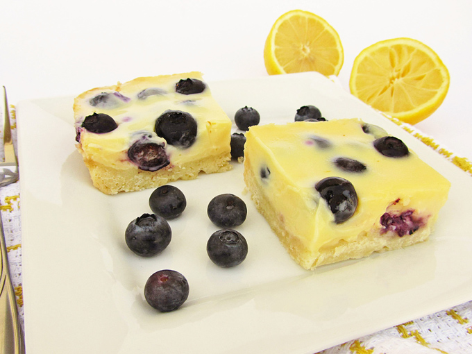 Lemon Blueberry Bars | Once Upon a Cutting Board