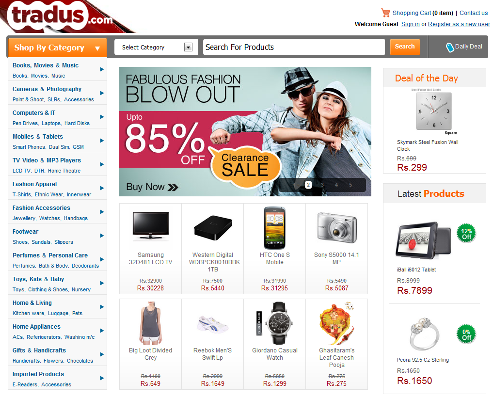 Top online shopping websites in india for Best online store website
