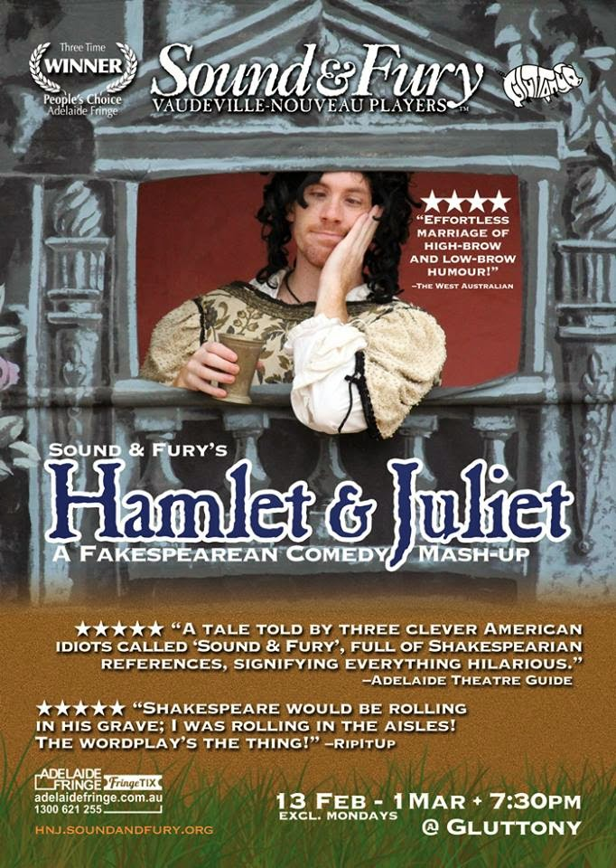 adelaide fringe - sound and fury's hamlet and juliet